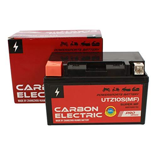 Carbon Electric YTZ10S MF Gel Batterie 12 V 10 Ah UTZ10S MF Wartungsfrei Versiegelt Motorrad Roller Motorradbatterie Rollerbatterie