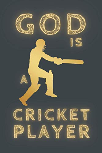 GOD IS A CRICKET PLAYER: BLANK LINED NOTEBOOK. PERSONAL DIARY, JOURNAL, NOTEPAD OR PLANNER. PERFECT GIFT FOR ANY OCCASION.
