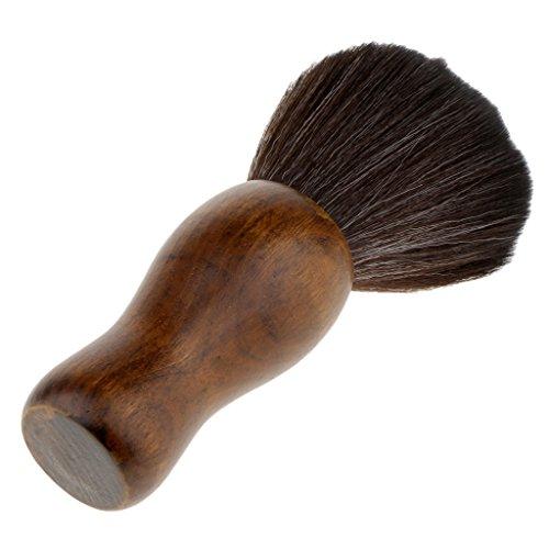 Sharplace Balai à Cou Brosse à Cheveux en Poils Nylon Dense et Doux pour Salon de Coiffure à Nettoyage Coupe de Cheveux - 8.5x3 cm - Noir