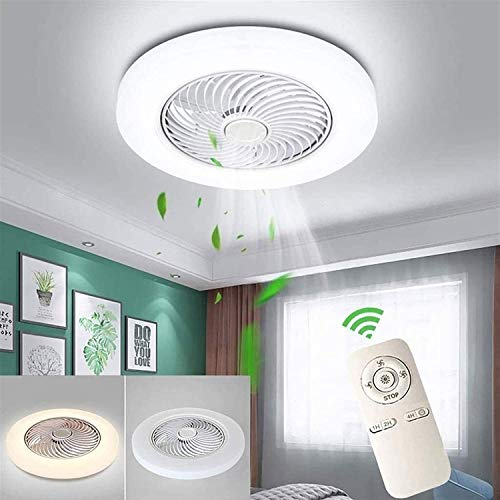 Rekaf Luces de ventilador de techo Lámpara Ventilador Restaurante Iluminación LED LED Araña Lámpara de techo Lámpara de techo Lámpara de techo Ventilador de techo Dormitorio Luz Invisible Luz de techo