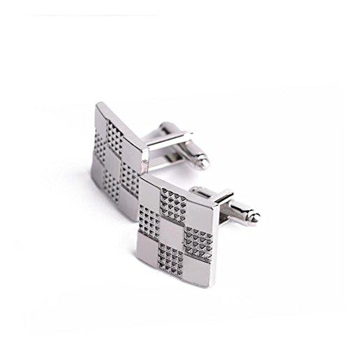 JUMP Manschettenknopf Mode Silber Quadrat Luxus Persönlichkeit Knopf Manschette Retro Herren Kreative Hemden Manschettenknöpfe