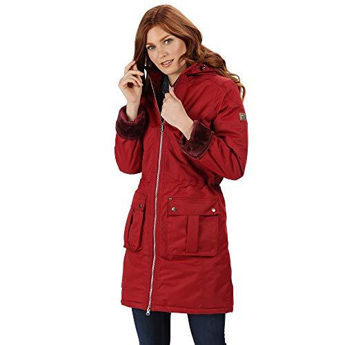 Regatta Romina Damen Jacke mit Kapuze, wasserdicht und atmungsaktiv XL Delhi Red