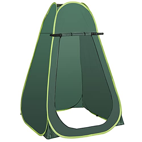 COSTWAY Outdoor Pop up Tent, Portable Camping Instant Toilet/Shower/Changing Room Tent with Mesh...