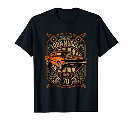 American Muscle Cars Iron Muscle T Shirt