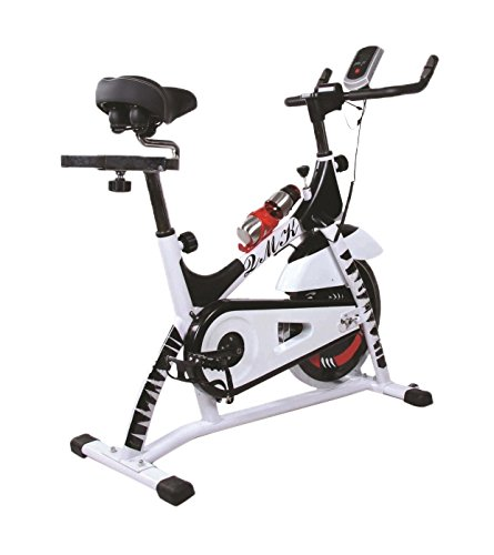 Fitness House Powerpro, Bicicletta Indoor Unisex Adulto, Bianco, Standard