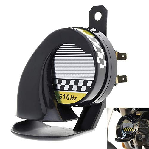 Trumpet Horn, TechCode Waterproof Loud Air Snail Siren 130dB 510hz Universal 12V Truck Motorcycle Car Universal for Motorcycle Auto Car Scooter