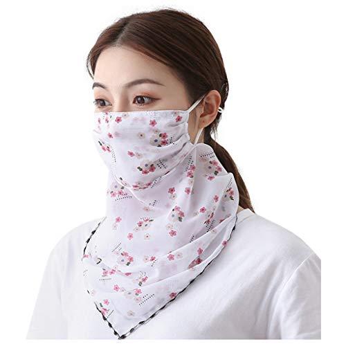 Sonnenschutz Gesichtsbedeckungen Sturmhaube Bandanas Atmungsaktive Halsgamaschen für Frauen