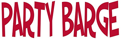 Die Cut Red Party Barge Boat Vinyl Decal Transfer - Funny Boating Bumper Sticker - Cooler Sticker