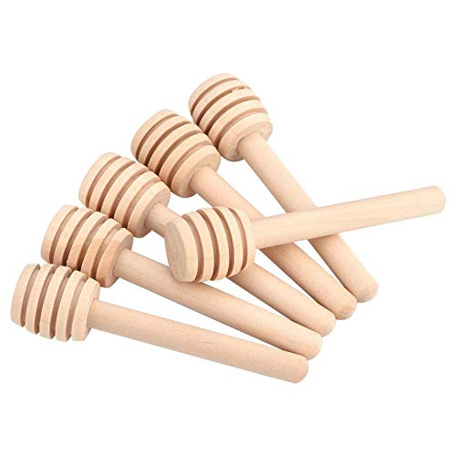 Honing Dipper - 50Stks/set 8cm Mini Houten Honing Dipper Sticks voor Honing Potje Dispense