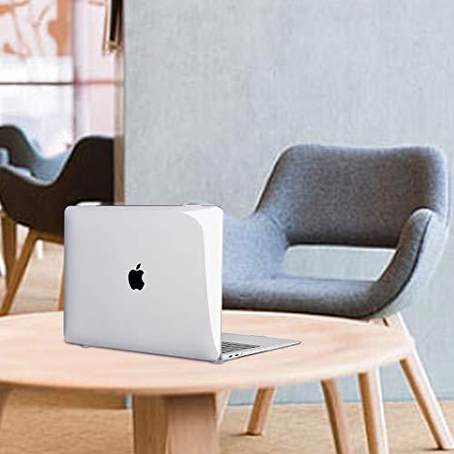 iNeseon MacBook Air 13-Zoll Hülle Case 2020/2019/2018 (M1/ A2337/ A2179/ A1932), Plastik Case Schutzhülle + Tastaturschutz für MacBook Air 13 Retina mit Touch ID, Kristallklar