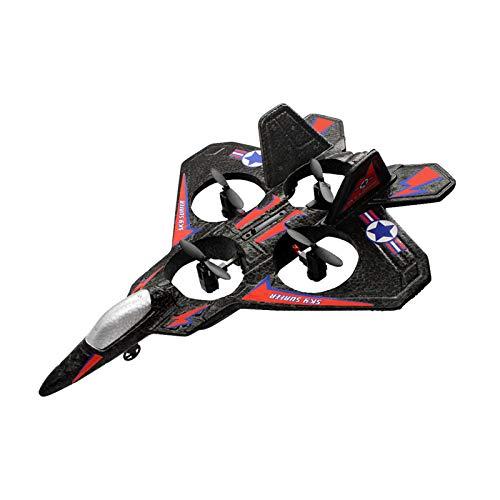 Aviones De Juguete Al Aire Libre 2.4Ghz RC Hélices Verticales De Despegue Y Aterrizaje Drone USB Recargable Control Remoto Fighter EPP Prueba De Espuma RC para Niños Y Adultos,A