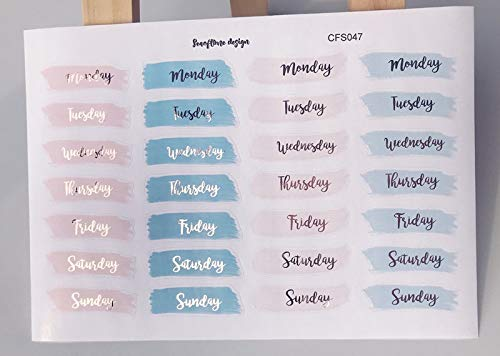 1pc Weekly calendar English words adhesive stickers kawaii Decorative Sticker DIY Planner diary Scrapbooking album Stickers