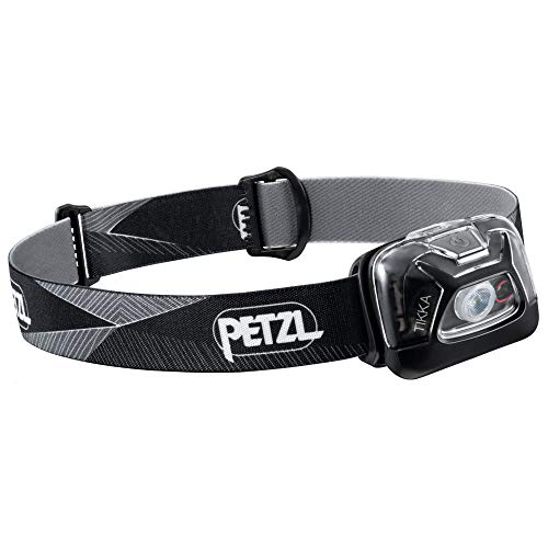 PETZL, Tikka Outdoor Headlamp with 300 Lumens for Camping and Hiking[a], Black