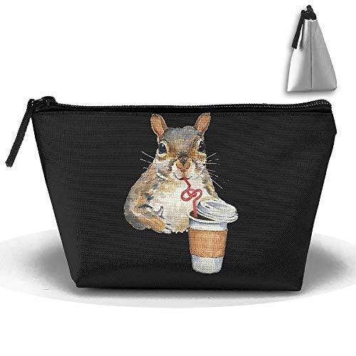 Mignon écureuil aime le café portable de maquillage reçoive sac de rangement grande capacité sacs de voyage sac de lavage à main
