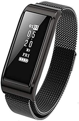 SHIJIAN Pulsera inteligente de seguimiento de fitness, pulsera deportiva de moda, recordatorio de llamada, mensaje de presión arterial, podómetro, impermeable, ejercicio, seguimiento de la aptitud