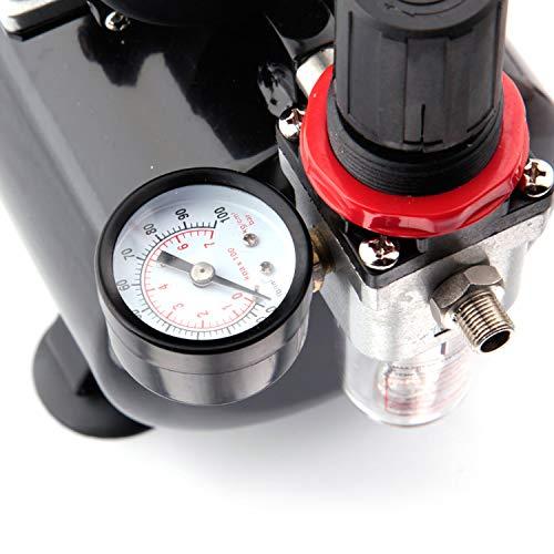Fengda FD-186 Airbrush Kompressor mit Lufttank/Druckbehälter/ 4 bar / Auto Stop - 2