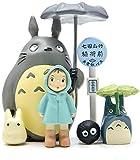YHX Juego De Figuritas Totoro De 6 Piezas, Decoraciones De Adornos Decorativos para El Paisaje De La Estación De Autobuses Micro Totoro De La Casa del Jardín En Miniatura - Figuras para Manualidades
