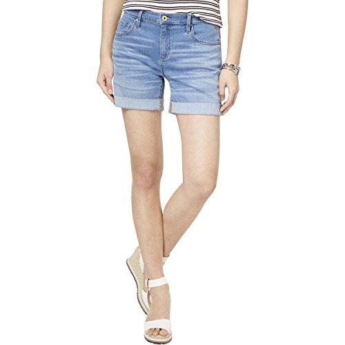 Tommy Hilfiger Women's Denim Short (Standard and Plus), Cape Blue, 6