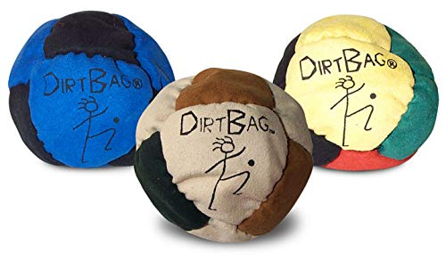 World Footbag Dirtbag Classic Hacky Sack Footbag – 3-Pack Assorted Colors