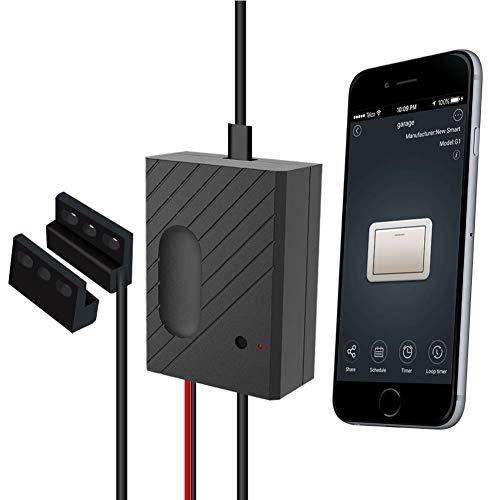 Smart Garagentüröffner, Wireless-LAN-Schalter Kompatibel Garagentorsteuerung, Timing Termine Fernbedienung für Alexa, Google-Startseite, Voice Control IFTTT, TUYA