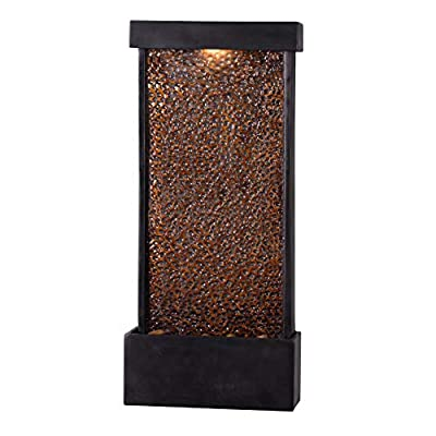 Kenroy Home Rustic Indoor/ Outdoor Table/Wall Fountain ,26 Inch Height, 11.5 Inch Width, 4 Inch Ext. with Oil Rubbed Bronze Finish and Hammered Copper