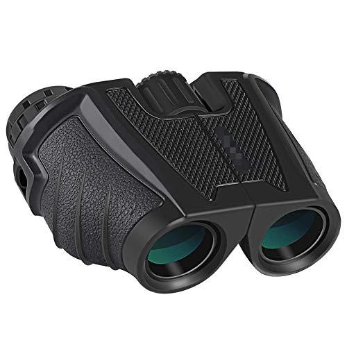 APE 12x25 Prismáticos Binoculares Plegable,Mini Prismáticos Portátiles Compactos Ligeros para Adultos y Niños con Vidrio Óptico y Película FMC Verde
