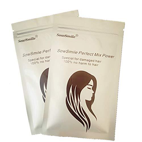 SowSmile Keratin Collagen Silk Hair Scalp Care Lengthen Vitamins Serum Treatment Perfect Mix Powder BCCA Better Than Lador