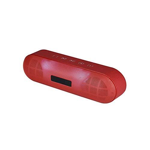 CHYSP Drahtlose Bluetooth-Lautsprecher-beweglichen LED-Laterne Voll Frequenz FM Radio Mini-TF-Karte Subwoofer Tonsäule AUX-Surround-Sound (Color : A)