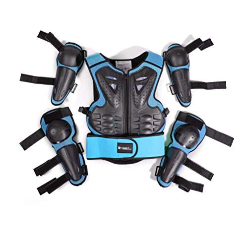 lqgpsx Kids Motorcycle Riding Protective Gear Armor Suit for 5-13 Years Old for Motocross Cycling Skiing Skateboarding Roller Skating