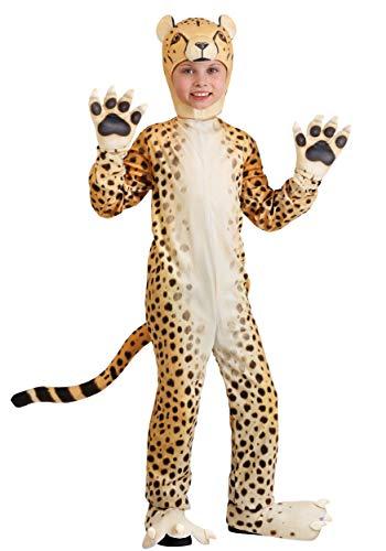 Cheerful Cheetah Costume for Kids Plush Cheetah Jumpsuit Medium