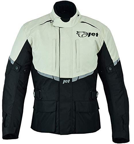 JET Chaqueta Moto Hombre Textil Impermeable con Armadura Tourer (L (EU 50 - 52), Plata)