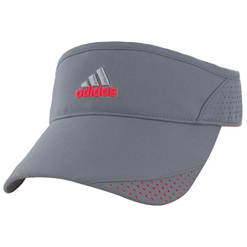 adidas Women's Climacool Trainer Visor, One Size, Grey/Flash Red Pink