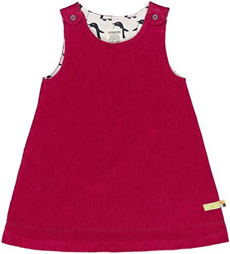 loud + proud Mädchen Wendekleid Cord Aus Bio Baumwolle, GOTS Zertifiziert Kleid, Rosa (Berry Ber), 128 (Herstellergröße: 122/128)