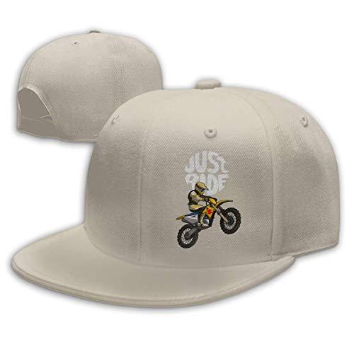 Yuanmeiju Gorra de béisbol Unisex Just Ride Teens Fashion Ajustable para jóvenes Sombreros Deportivos al Aire Libre