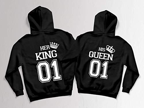 Pärchen Hoodies für zwei King Queen Partner Sweatshirts