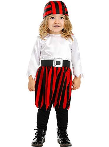 Funidelia | Disfraz de Pirata - Colección bucanero para bebé Talla 6-12 Meses ▶ Corsario, Bucanero - Multicolor