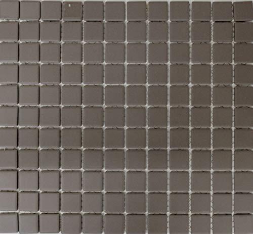 Mozaïek tegel keramiek grijs ongeglazuurd douchebak vloertegel MOS18B-0211-R10_f