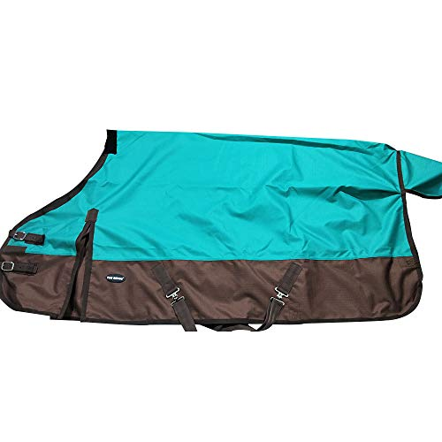 "TGW RIDING 1200Denier Waterproof and Breathable Horse Sheet Horse Blanket (70"", Turquoise)"