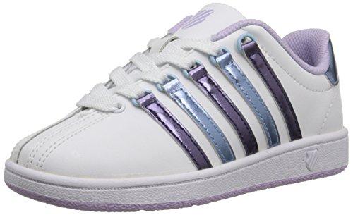 K-Swiss Classic Sneaker (Kleinkind/kleines Kind), Weiá (Weiß/Pastelllila/Blau Havana), 6 Big Kid