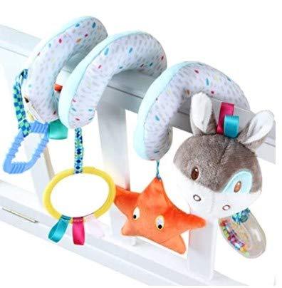 1 Piece of Juguete de Felpa Colgante en Espiral de Moda para Cuna Juguete Colgante de Carro de bebé con Forma de Animal de Dibujos Animados portátil Agradable para bebés, niños