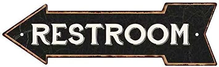 Chico Creek Signs Restroom Left Arrow Vintage Looking Metal Sign 5x17 205170004018