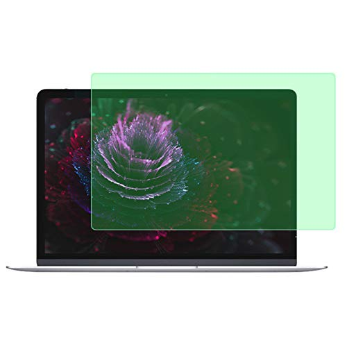 TIM-LI Laptop Screen Protector Tempered Glass Compatible with Macbook Air 15.4 Inch Model A1707 A1990, Light Green Filter Film Anti Blue Light/HD/Bubble Free