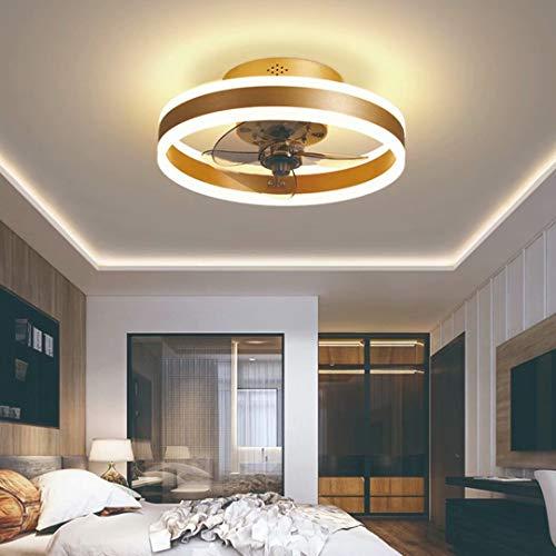 Ventilador De Techo Con Iluminación LED Luz, Velocidad Del Viento Ajustable, Ultra Silencioso De La Sala Dormitorio De La Lámpara Del Ventilador 50Cm