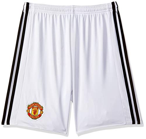 adidas Herren Manchester United Home 17/18 Shorts, White/Black, XL