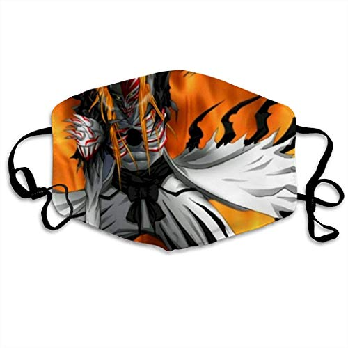 Mundschutz Anime Manga Bleach Hip Hop Face Cover, Roleplaying Japanese Anime Cartoon Style Face Cover, Washable and Reusable Mouth Cover