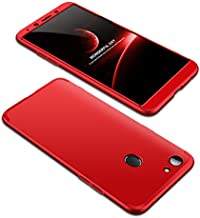 Case OPPO F5 youth 360 Degrees protective Cover + tempered glass film High quality, 3 in1 Full Body protection Bumper hard phone Case Ultra-thin Skin Case,for OPPO F5 youth (Red)