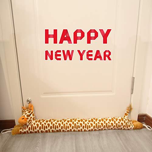 MAXTID 36' Giraffe Door Draft Stopper 2lbs Christmas Door Snake Draft Noise Reduce Animal Door Blocker Lovely Gift Dodger