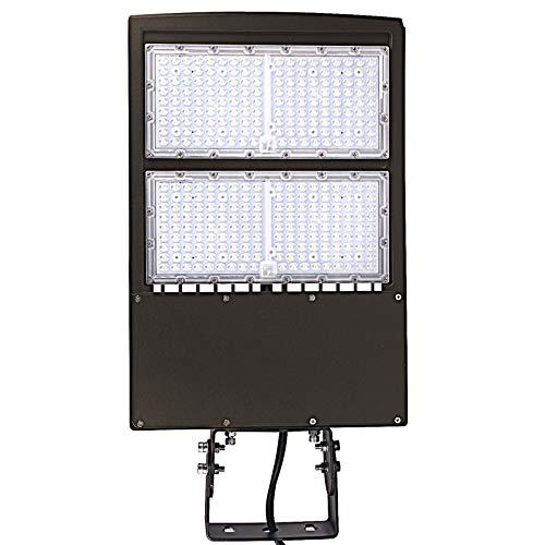 480V 300W LED Parking Lot Lights, 40500-42000LM 1000W MH/HPS Equiv. Surge Protection, 5000K AC 200-480V DLC UL LED Shoebox Lights for Sports Court