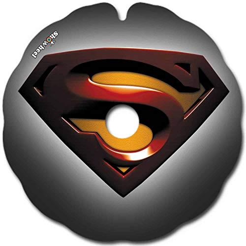 Rollstuhl Speichenschutz (1 Paar) - leicht anzubringen - Geeignet für Greifreifen von 48,51 bis 49,50 cm Außendurchmesser und Runde Befestigungen - 'Superman gris'