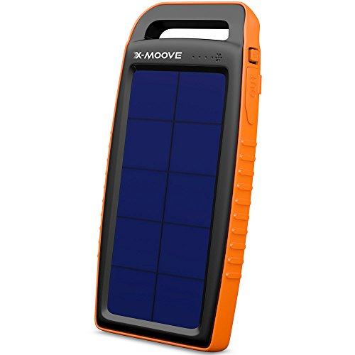 Preisvergleich Produktbild Adaptateur secteur pour Téléphone portable - X-Moove Solargo Pocket 10000 mAh - Chargeur de batterie USB avec deux ports (compatible tablette,  smartphone...)